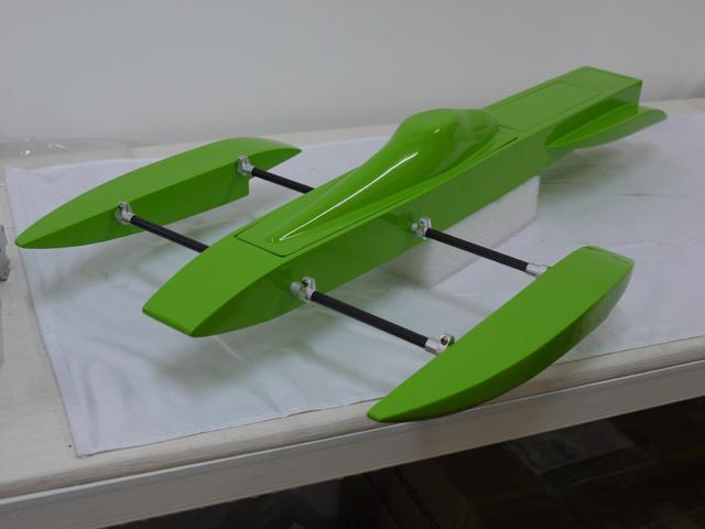OZ RC Boat Supplies - JON 21 Prebuilt Rigger